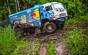 Wallpaper Grass, Sport, Speed, Race, Master, Dirt, Squirt, Russia, Kamaz, Rally, Rally, KAMAZ, Master, 303, Silk ...