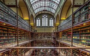 Wallpaper Museum, The Rijksmuseum, library, Netherlands, Amsterdam