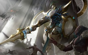 Picture art, League of Legends, Shadow of War, hecarim, lancer zero hecarim