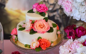 Picture roses, cake, sweet