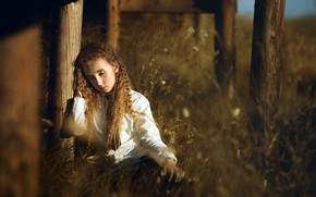 Picture nature, girl, Alba