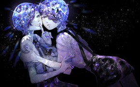 Picture anime, art, two, amethyst, house no kuni