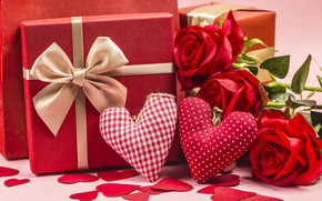 Picture love, roses, heart, love, Valentine's day, hearts