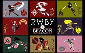 Picture girl, sword, weapon, anime, boy, ken, blade, shield, bishojo, RWBY, japonese