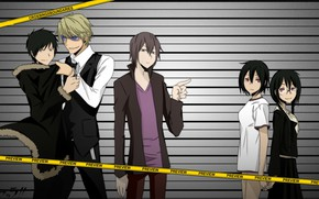 Picture anime, art, guys, characters, Durarara!!