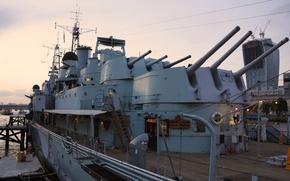 Picture ship, London, Museum, cruiser, main, caliber, Belfast