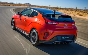 Picture Hyundai, rear view, Turbo, Veloster, 2019