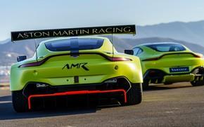 Picture Aston Martin, Vantage, pair, racing car, spoiler, 2018, GTE