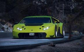 Picture Lamborghini, Car, Race, Green, GT3, Day, Huracan