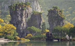 Picture mountains, rocks, vegetation, pond, Perfect Hideaway prt. 4 - Pillar Creek