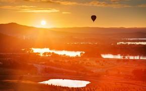 Picture australia, balloon, canberra