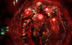 Picture red, game, powerful, strong, muscular, Red Lantern, Injustice 2, supervillain, Atrocitus, Atros, Ryut