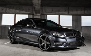 Picture lights, Mercedes, fiber, with, carbon, C250, smoked