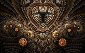 Picture Pattern, Abstraction, Brown