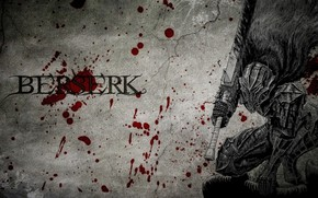 Wallpaper spot, Berserk, monster, armor plate, sword, Berserker, blood