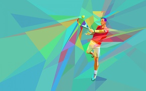 Wallpaper tennis, the game, athlete, vector