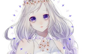 Picture look, eyes, girl, Vocaloid