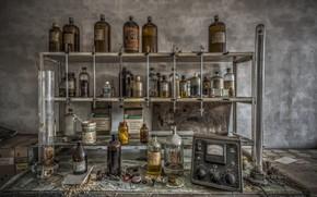 Wallpaper reagents, background, laboratory