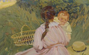 Picture picture, genre, Dorothea Sharp, Dorothea Sharp, Voskresny Picnic