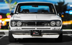 Picture Auto, White, Machine, Grille, Nissan, Nissan, Lights, Car, 2000, Skyline, Nissan Skyline, The front, 2000GT, …