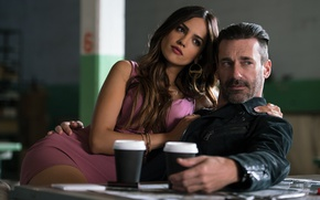 Picture cinema, movie, brunette, film, Jon Hamm, Eiza Gonzalez, Baby Driver