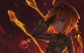 "Wallpaper Tanya Degurechaff, Tanya ""Devil of the Rhine"" Degurechaff, Saga of Tanya the Evil, uniform, 2017, ..."