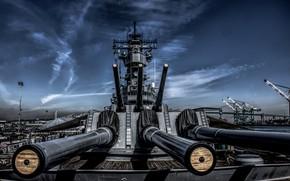 Picture battleship, guns, USS Iowa, BB-61