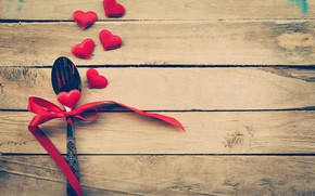 Picture love, heart, spoon, hearts, love, heart, wood, romantic, Valentine's Day, serving