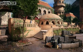Picture trees, the city, building, architecture, Star Wars Battlefront II