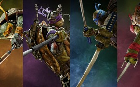 Wallpaper four, Teenage Mutant Ninja Turtles: Out of the Shadows, fantasy, teenage mutant ninja turtles, Leonardo, ...