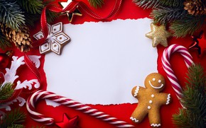 Picture holiday, toys, new year, bumps, caramel, gingerbread, fir-tree branches