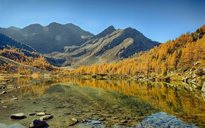 Picture autumn, landscape, mountains, nature