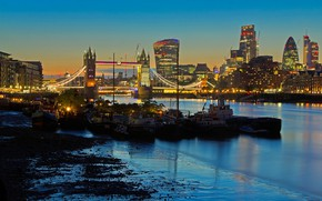 Picture lights, river, England, London, home, Thames, Tower bridge