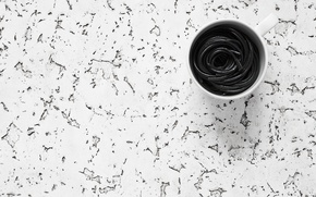 Picture background, spaghetti, Black and White, mug white