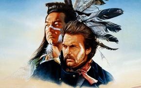 Picture soldier, Kevin Costner, Graham Greene, native american, lieutenant of the cavalry, lieutenant Dunbar, Kicking Bird, …