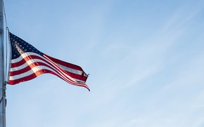 Picture the sky, flag, USA