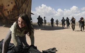 Picture cinema, girl, gun, Wolverine, X-Men, Logan, weapon, man, sand, Marvel, hero, film, angry, Laura, X-23, …