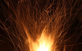 Wallpaper fire, fireplace, fire, new year, the evening, heat, burn, sparks, macro, holiday, flame