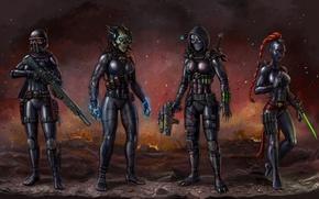 Picture girl, fiction, art, killer, Warhammer 40k, WH40K, Imperial Assassins