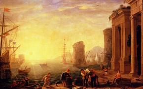 Picture picture, the urban landscape, Claude Lorrain, Claude Lorrain, Morning in the Harbor, Claude Gellet