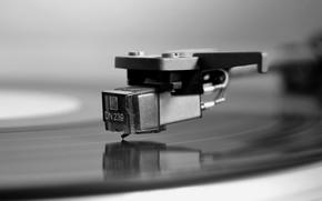 Picture macro, music, vinyl, record player