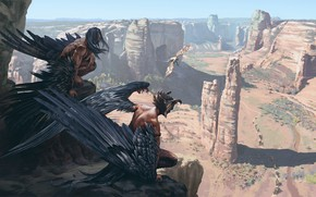 Picture mountains, fantasy, Found KEYFRAME CONCEPT ART, Ancient Civilizations: Lost, Sergey Avtushenko