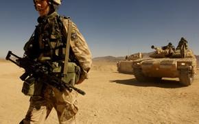 Picture gun, soldier, weapon, rifle, tank, armored, seifuku, SAW