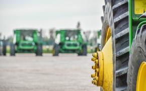 Picture blur, technique, wheel, tires, bokeh, harvester, protector, tractor, trakor