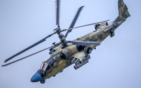 "Wallpaper Russia, Ka-52, reconnaissance and strike, helicopter, ""Alligator"""