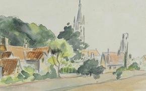 Picture figure, watercolor, Camille Pissarro, All Saints ' Church. Beulah Hill