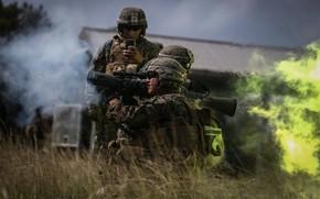Wallpaper anti-tank hand grenade, Carl Gustav, shot, soldiers