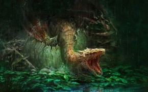 Picture dragon, fantasy, art, Mom, Trung Tin Shinji, I'm Hungry!