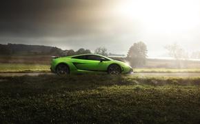 Picture car, green, Lamborghini, Superleggera, Lamborghini Gallardo, Lamborghini Gallardo Superleggera