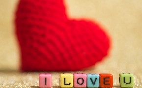 Picture holiday, cubes, heart, Valentine's day